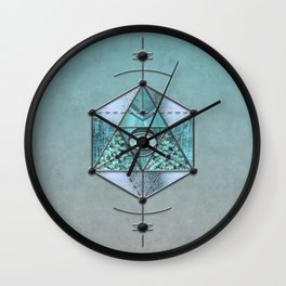 Sacred Geometry Eye Of Protection Wall Clock