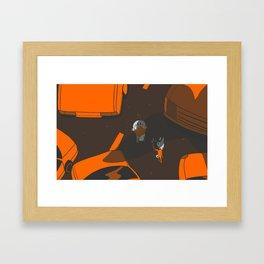 Bad Birds Framed Art Print