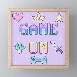 Game On (pastel) Framed Mini Art Print