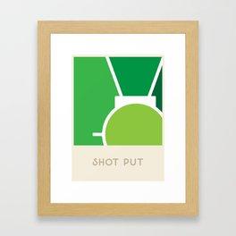 Shot put (Sports Surfaces Series, No. 17) Framed Art Print