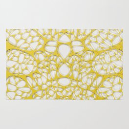 Yellow on white, organic abstraction Rug