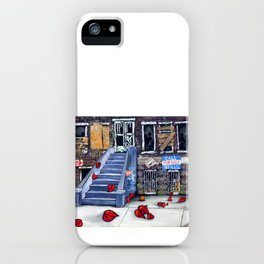 Broken Hearts Blvd Heart Housing Apartment Inner City Dreams American Loss Homeless Homelessness  iPhone Case