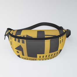 Golden city art deco Fanny Pack