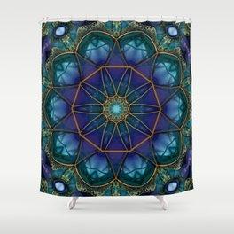 Moonstone Mandala Shower Curtain