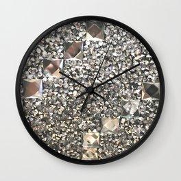 Diamond Chips Pattern Wall Clock