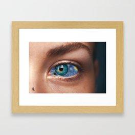 Art In Your Eyes Framed Art Print
