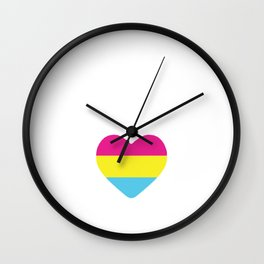 Totally Pantastic Funny Pansexual Graphic T-shirt Wall Clock