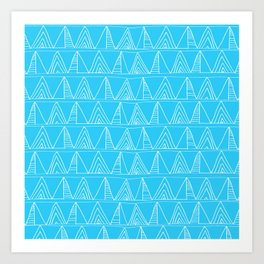 Triangles- Simple Triangle Pattern for hot summer days - Mix & Match Art Print