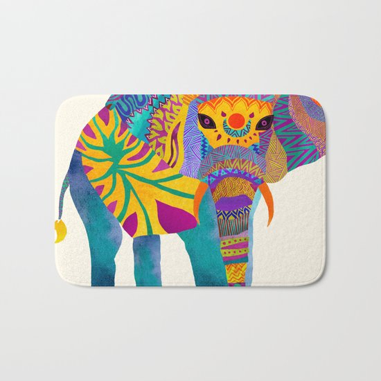 Whimsical Elephant Bath Mat