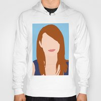 emma stone Hoodies featuring Emma Stone Digital Portrait by RoarsAdams