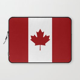 Canada: Canadian Flag (Red & White) Laptop Sleeve