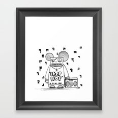 hip hop is all the rage Framed Art Print
