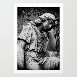 Angel Of The Mourning Art Print