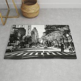 New York City Streets Contrast Rug