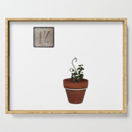 Flowerpot and house number Serving Tray