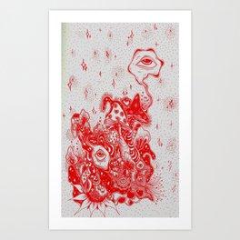 Scarlett Iris Art Print