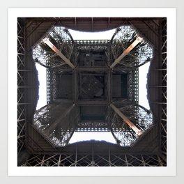 Under Eiffel HDR Art Print