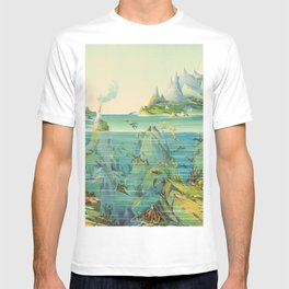 Nature in Descending Regions Vintage Illustration by Levi Walter Yaggy 1887 T-shirt
