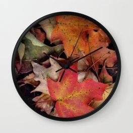 Fallen Leaves Wall Clock