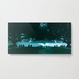 Summer Between the Willows by Lake Wakatipu Metal Print
