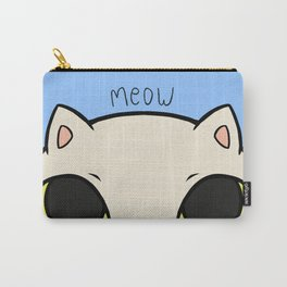 Meow - Blue Carry-All Pouch