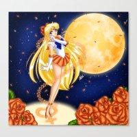 sailor venus Canvas Prints featuring Sailor Venus by HaruShadows