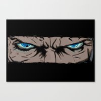 infamous Canvas Prints featuring Comic eyes (infamous) by  Steve Wade ( Swade)