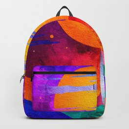 Colorful Outer Space Spaceship Backpack