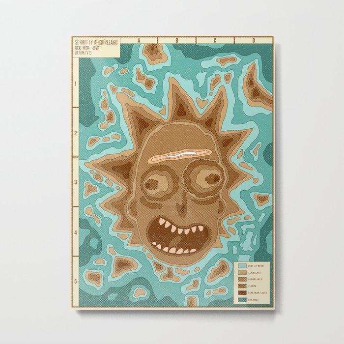 Popography: Schwifty Archipelago Metal Print