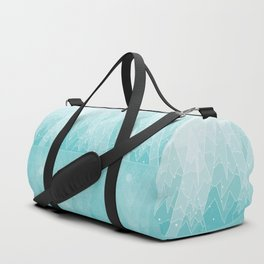Geometric Lake Mountain IV - Winter Duffle Bag