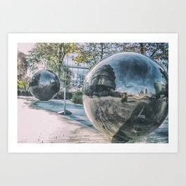Sphere Reflections Art Print