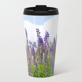 Hundreds of lupines Travel Mug