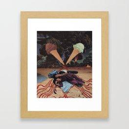 ice cream storm Framed Art Print