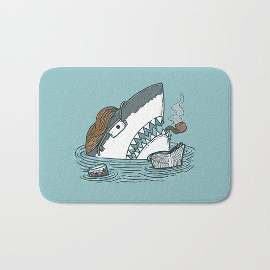 The Dad Shark Bath Mat