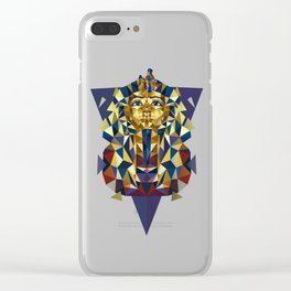 Golden Tutankhamun - Pharaoh's Mask Clear iPhone Case