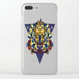 Golden Tutankhamun - Pharaoh's Mask Clear iPhone Case
