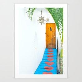 Sayulita Heart Walkway Art Print
