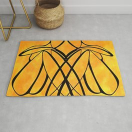 Women Together Minimalistic Line Drawing Rug