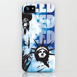 Freedom - Blue iPhone Case
