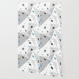 Abstract geometric climbing gym boulders blue mint Wallpaper