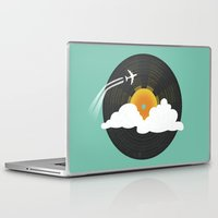records Laptop & iPad Skins featuring Sunburst Records by Dianne Delahunty