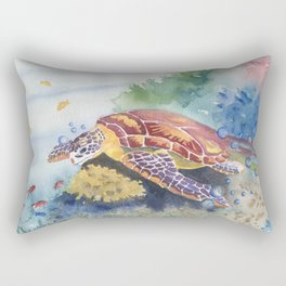 Sea Turtle and Friends Rectangular Pillow