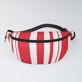 White and red striped . Fanny Pack