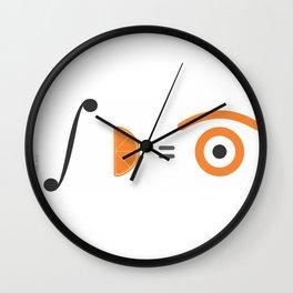 orange integral Wall Clock