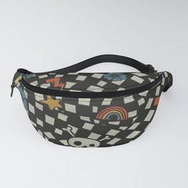 2000's Emo Pattern (WHITE) Fanny Pack