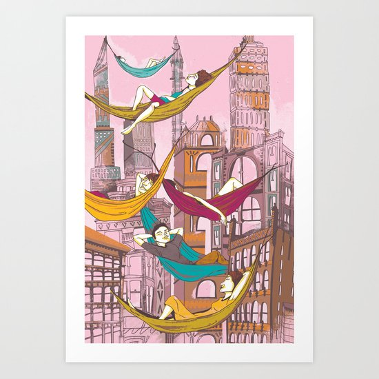 Relaxing Summer Art Print