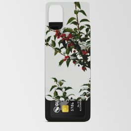 Snow-Kissed Holly Android Card Case