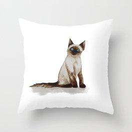 Siamese Kitty Throw Pillow