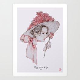 Miss Irene Rose Art Print