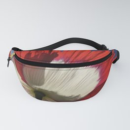 Danish Flag Poppy 2 Fanny Pack
